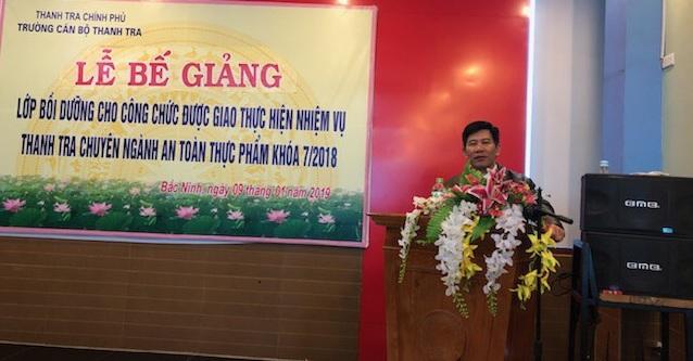 Bế giảng lớp TTCN ATTP K7 tại Bắc Ninh