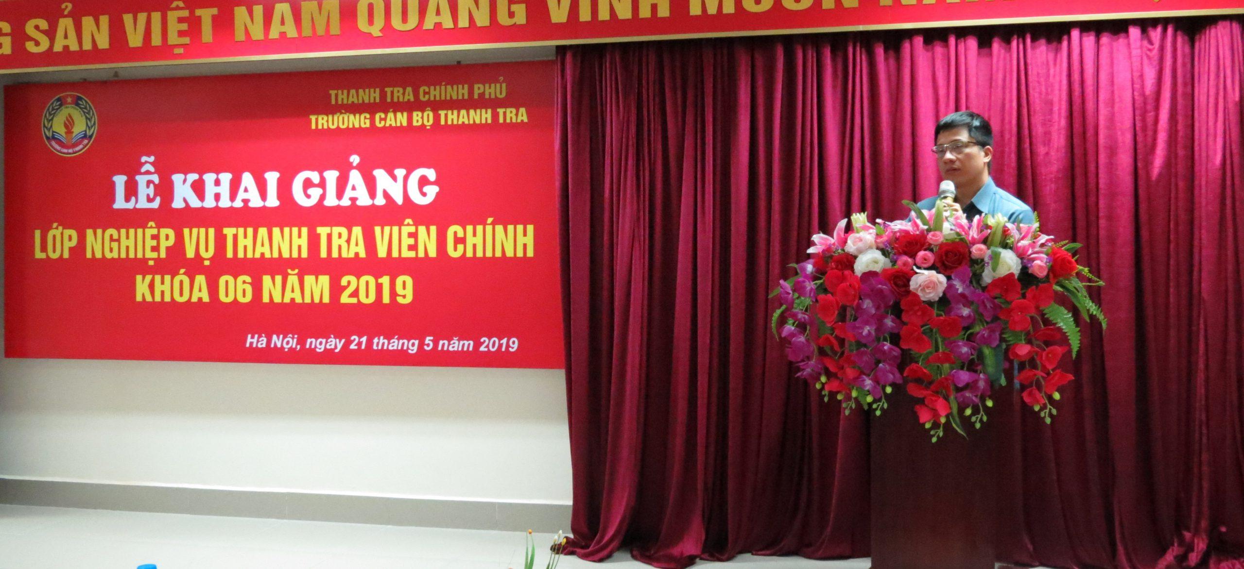 TS Trịnh Văn Toàn Phó Hiệu trưởng Trg CBTT phát biểu khai giảng khóa học