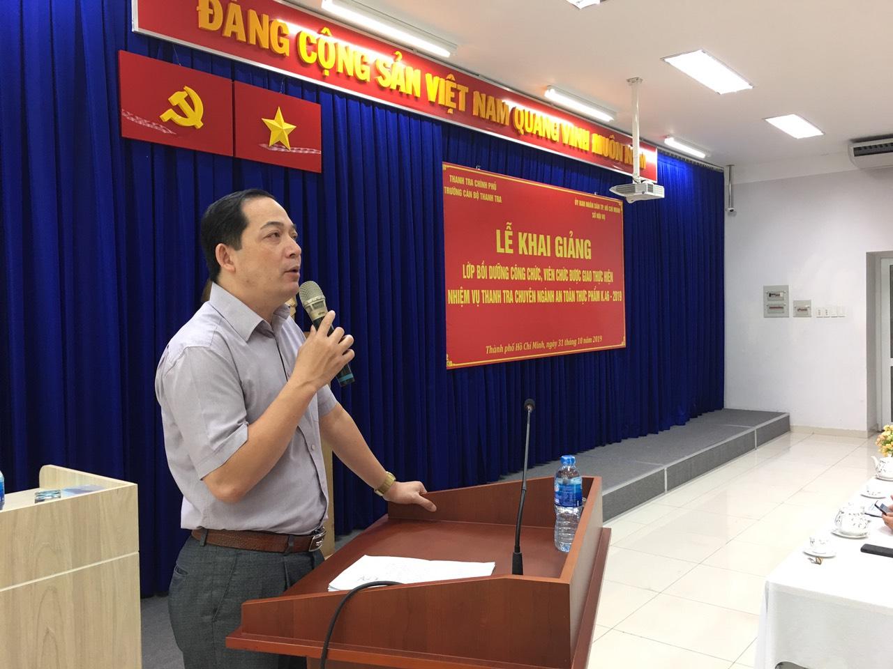 TS Nguyễn Huy Hoàng Phó HT nhà trg phát biểu tại Lễ Khai giảng