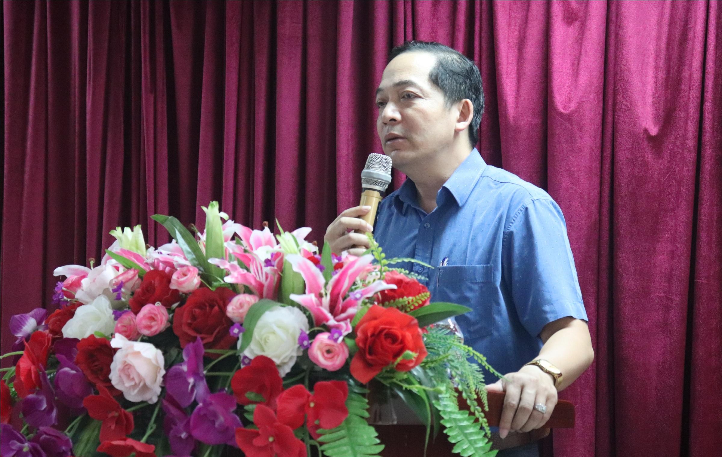 TS Nguyễn Huy Hoàng PHT nhà trường phát biểu tại Lễ khai giảng
