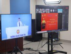 Khai giảng lớp Nghiệp vụ thanh tra viên chính khóa 08/2021 theo hình thức trực tuyến